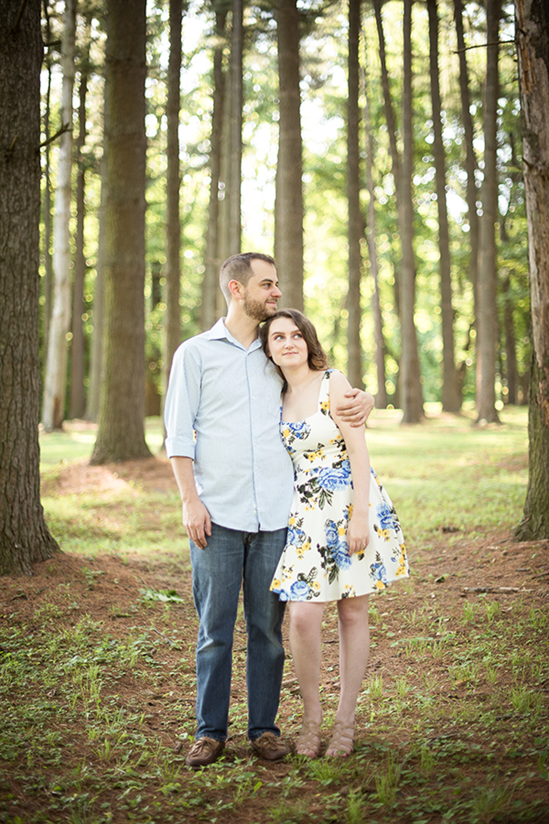 Couple at Valley Garden Park Engagement Session
