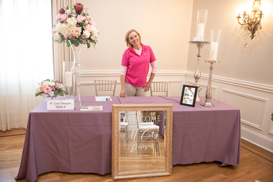 M Coty Designs table at Wilmington wedding show