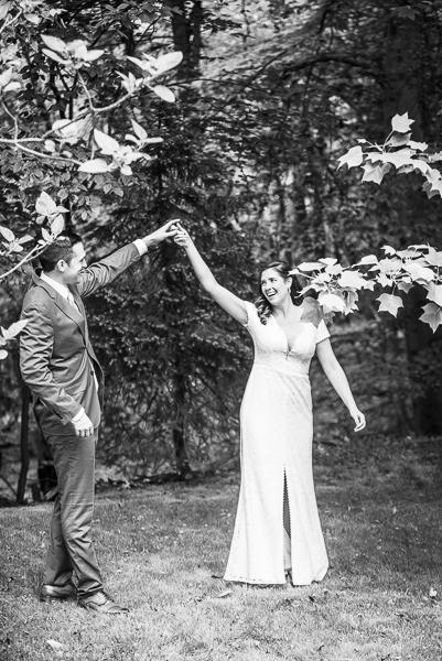 Bride and groom dance intimate Delaware wedding