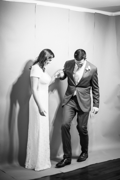 Groom breaks glass after ceremony
