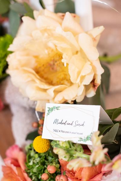 Intimate Delaware wedding flowers