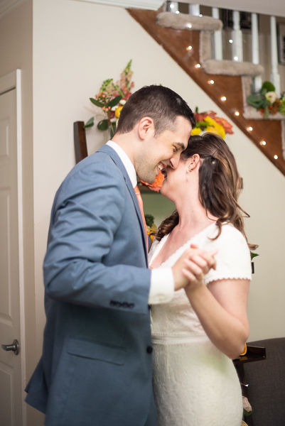 First dance at intimate Delaware wedding