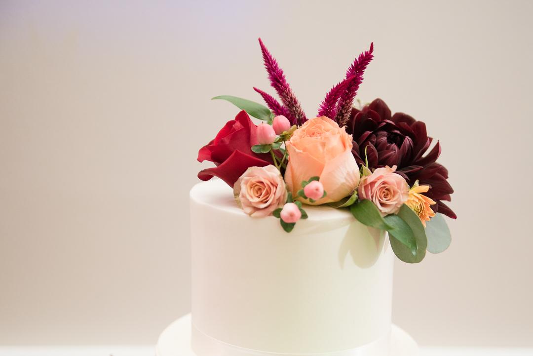 October wedding cake topper