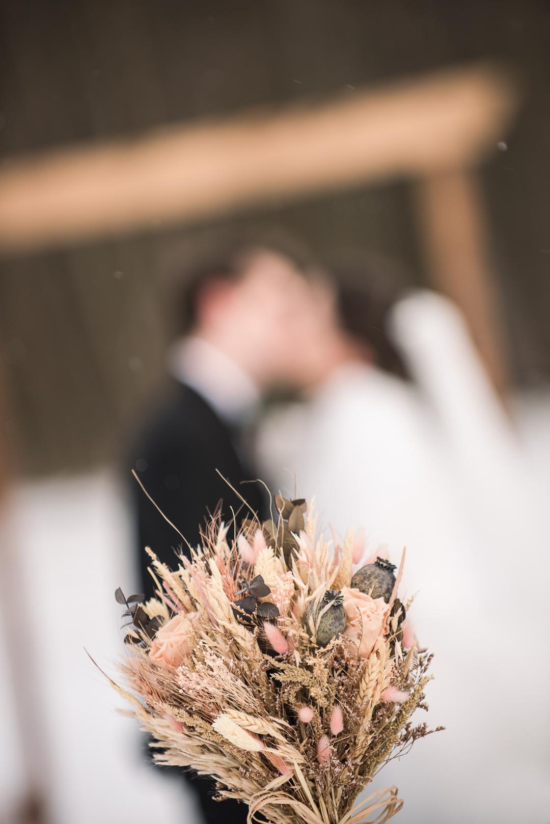 Prancing Deer Farm Winter Wedding
