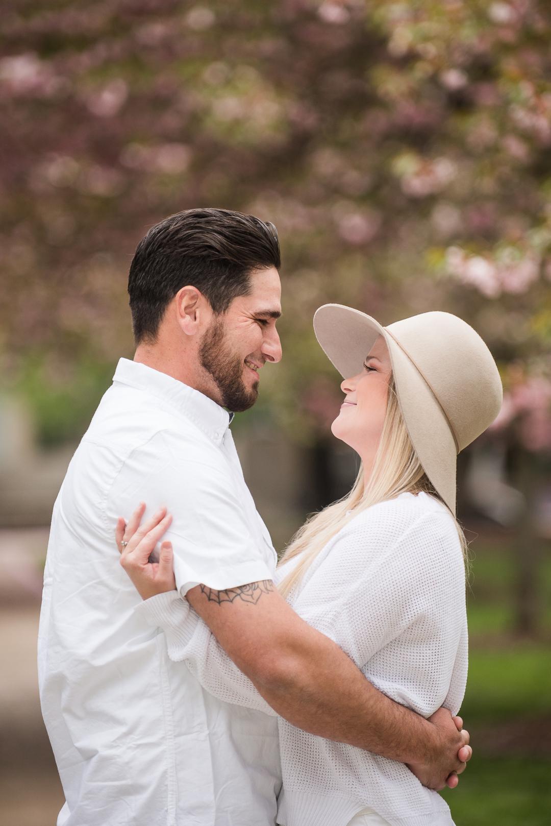 cherry blossom engagement session