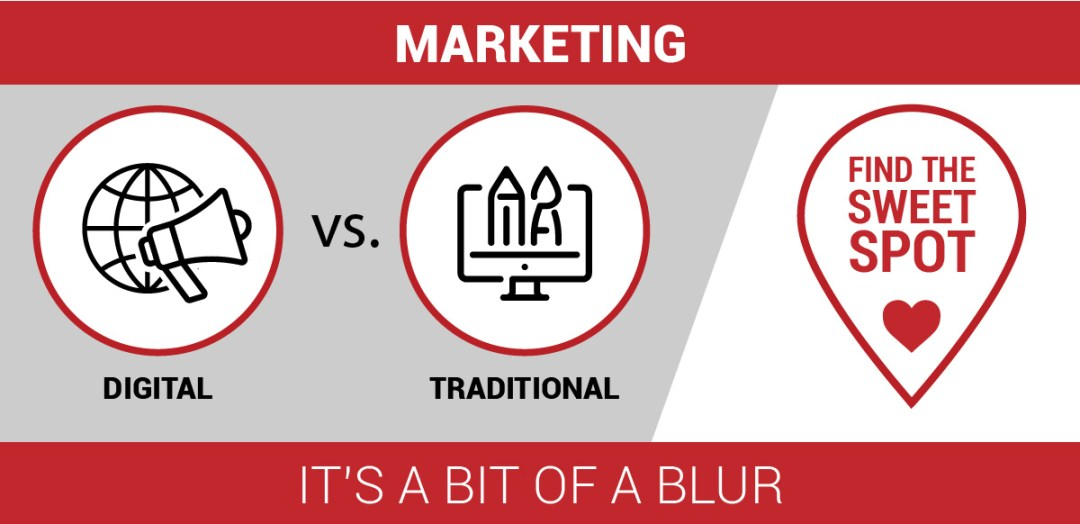 Traditional versus Digital Marketing – it's a bit of a blur