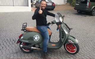 Creative Imagineering teams up with Vespa for a custom designed scooter