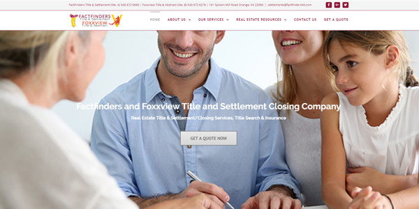 Title and Settlement Factfinders Foxxview