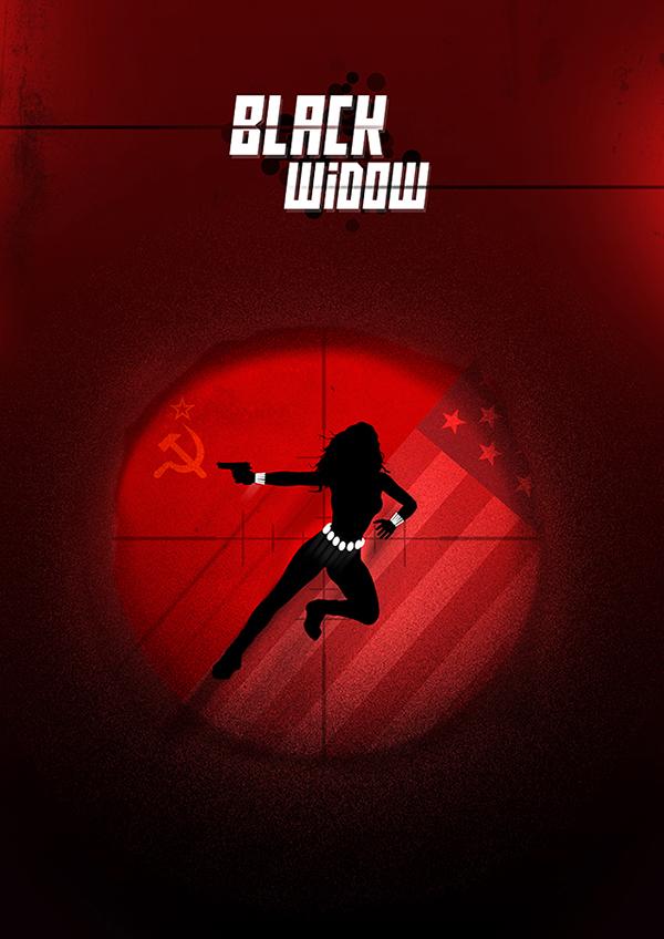 Black Widow Poster Design