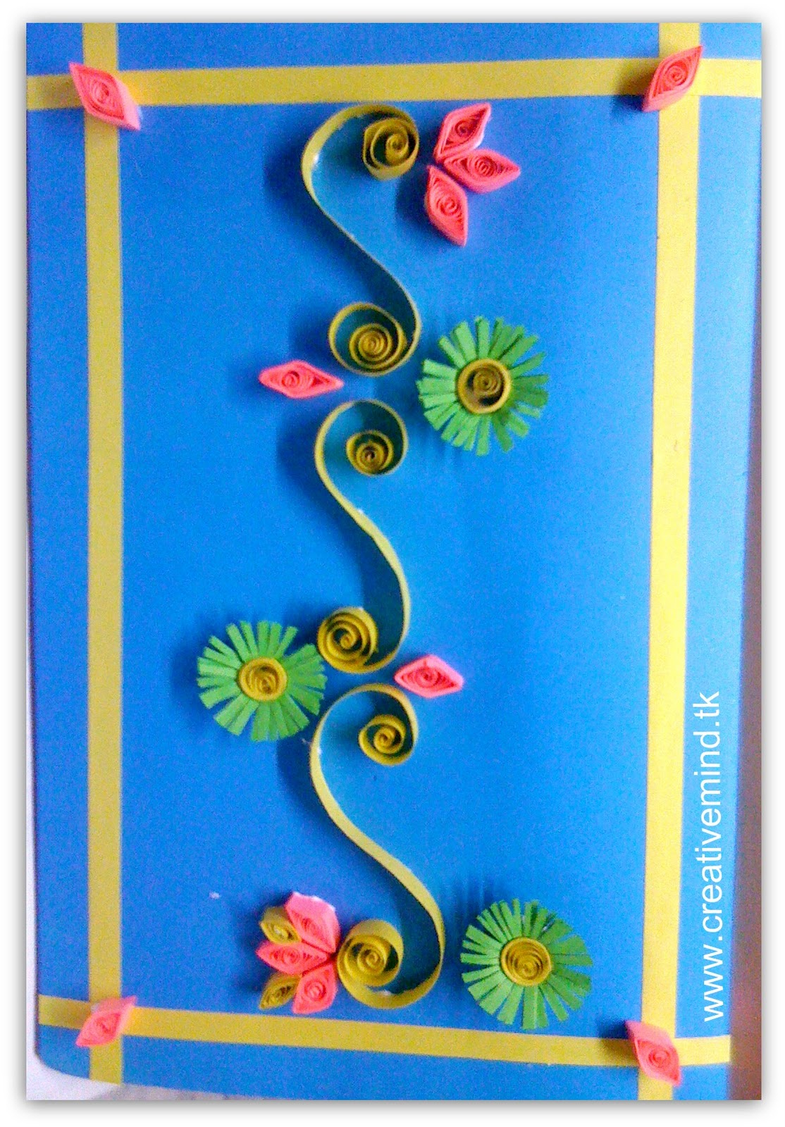 Mother 39 s day quilling card for Quilling paper craft