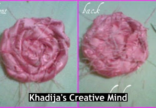 fabric+flower+making