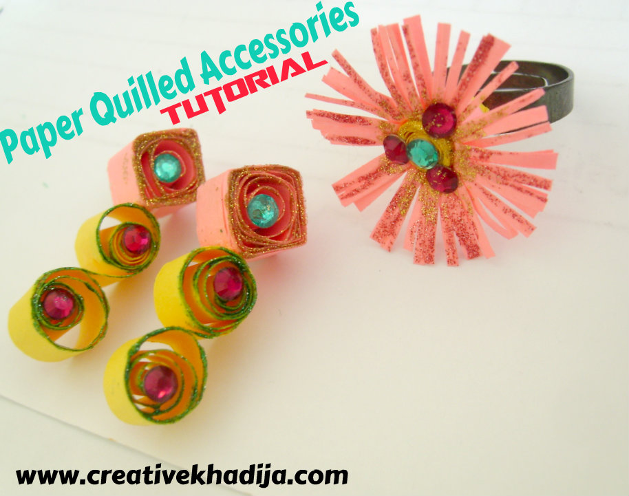 Paper quilled jewelry tutorial