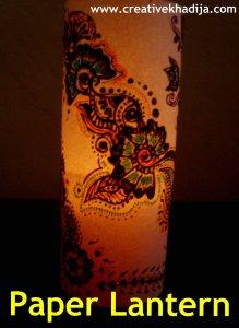 Paper Lantern with Henna designs