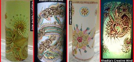 henna designed paper lanterns3
