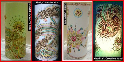 Paper Lanterns with Henna Designing Tutorial