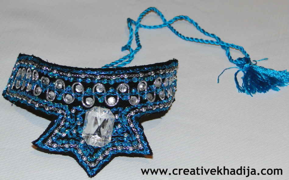 hand embroidered necklace choker for sale