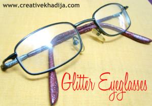 glitter eyeglass