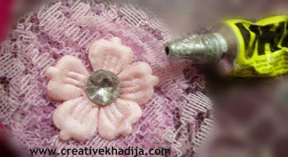 netting fabric flower tutorial