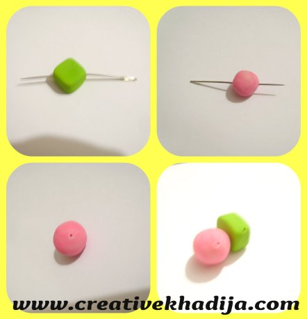clay beads earrings