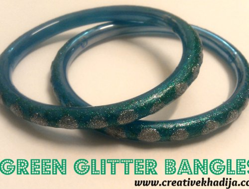 glitter glass bangles DIY