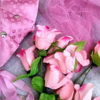 pink wreath tutorial