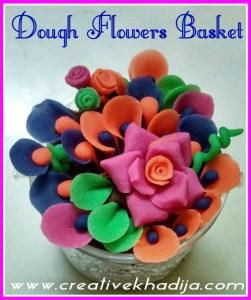 dough flowers basket making