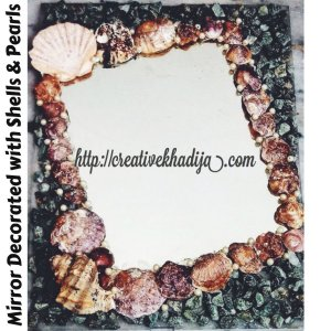 Mirror Decorated with Shells & pearls