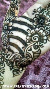 henna designs flowers