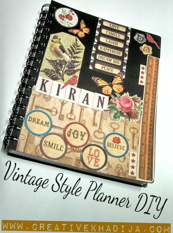 vintage planner mod podge decoupage tutorial