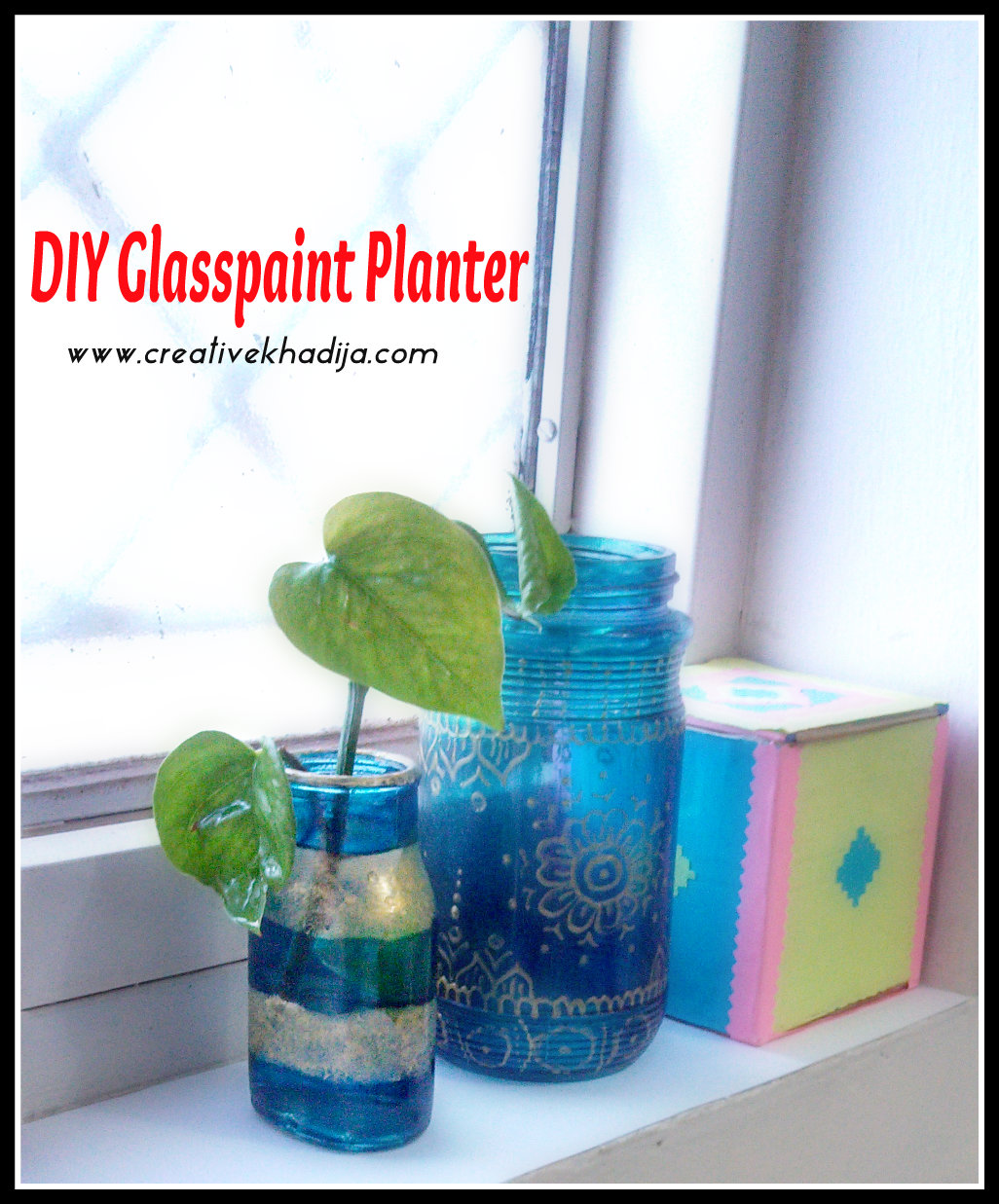 Upcycled bottle diy for fall decoration - Creative glass painting ideas ...