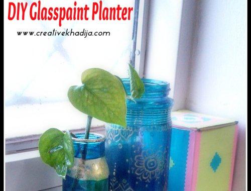 DIY Small Planter pot, DIY glassPaint Planter Pot