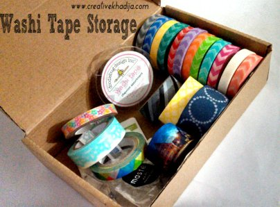 washitape storage ideas DIY