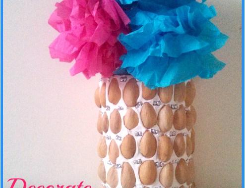 Vase Decoration with pistachio shells
