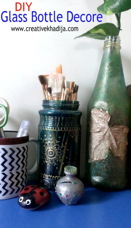 Upcycled bottle DIY for Fall Decoration
