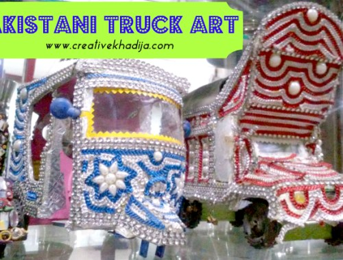 pakistani truck art and rikshaw design work