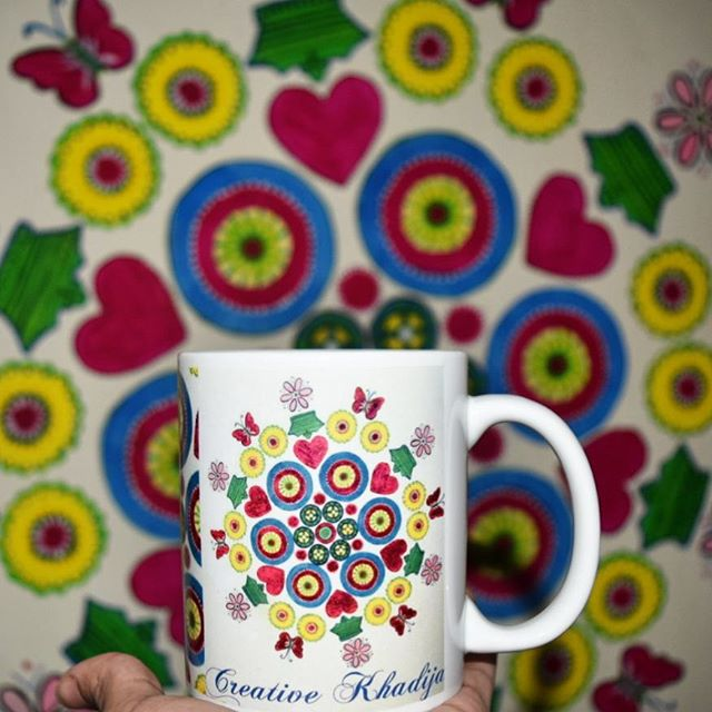 creative khadija logo printed mugs