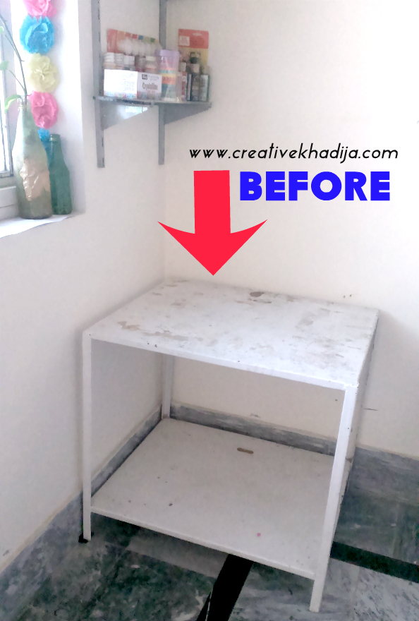 how to decoupage old table with mod podge