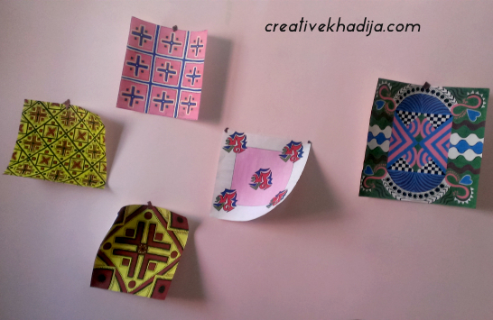 craftroom creativekhadija wall art work in progress