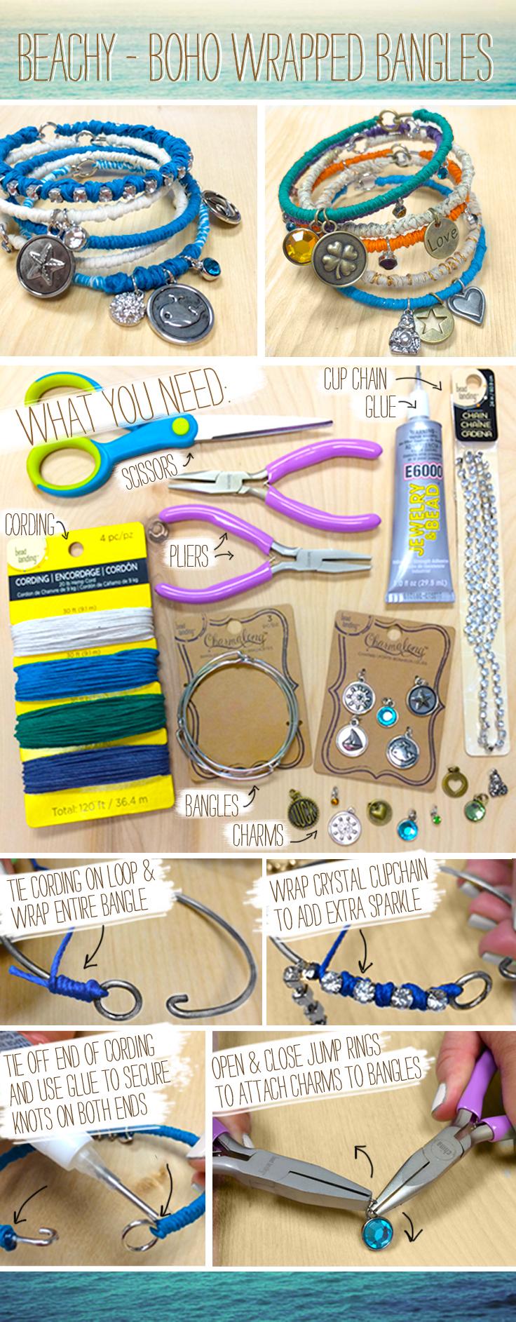 DIY Beach Boho Bracelets