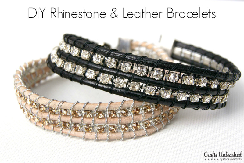 DIY-leather-and-rhinestone-bracelets