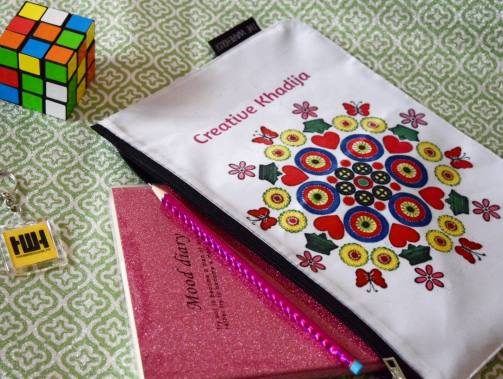 creative khadija customized logo printed pouch