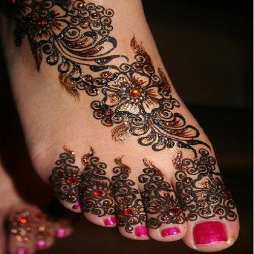 henna design for feet