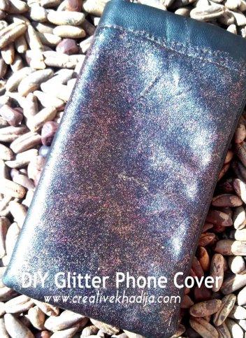 DIY glitter phone cover