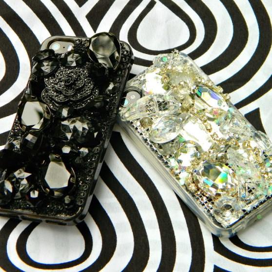 DIY jeweled phone case