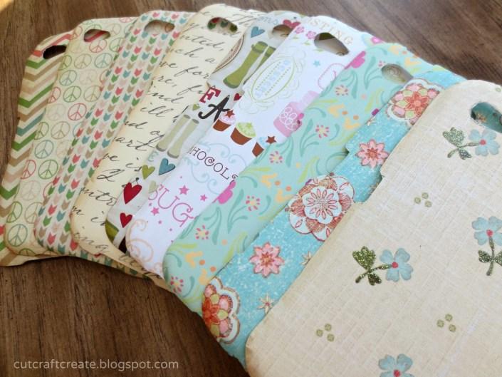 DIY paper phone covers