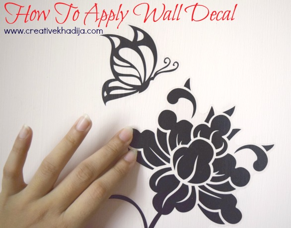 how to apply wall decal