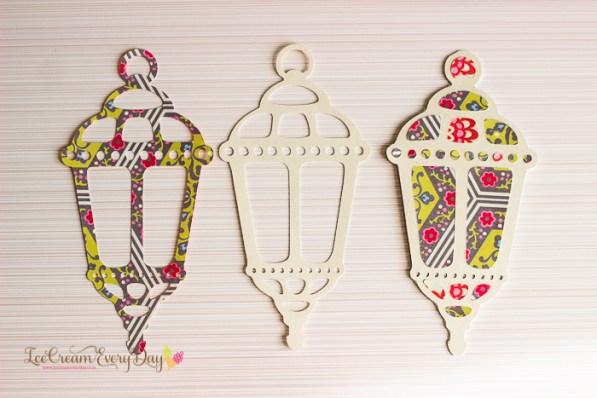 lantern shaped eid cards for