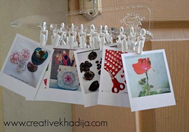 polaroid prints organizing
