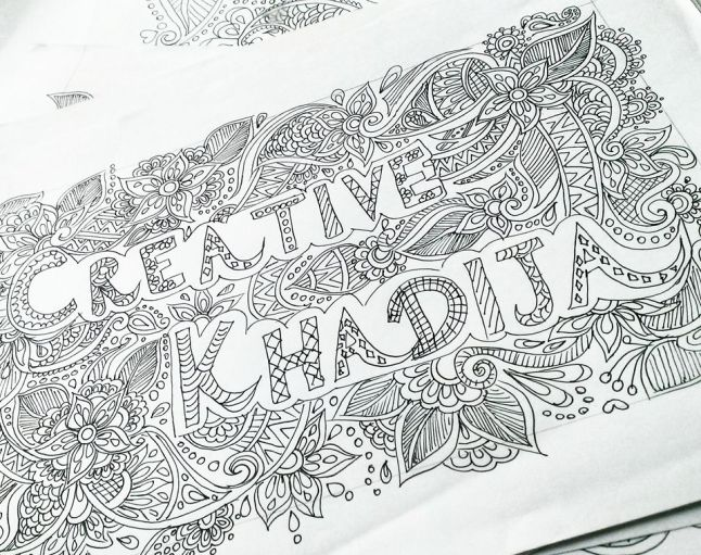 creative khadija freehand drawings and doodle work in progress