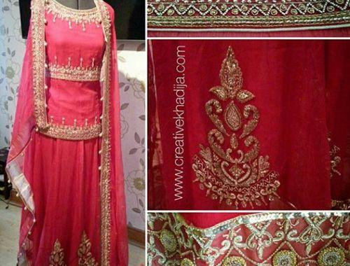 bridal lehnga fashion design collaboration